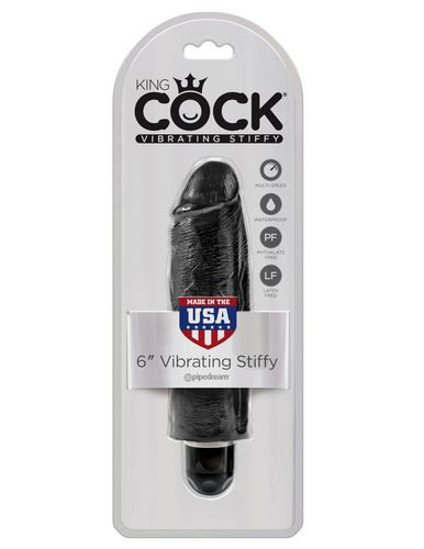 PipeDream King Cock 6''Vibrating Stiffy Вибратор черный